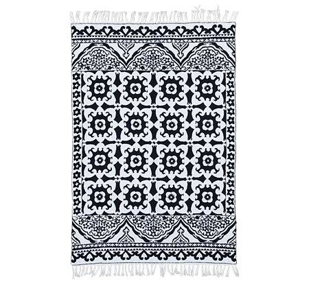 שטיח צמר אוסטרלי בצבעי שחור לבן עם גדלים לבחירה