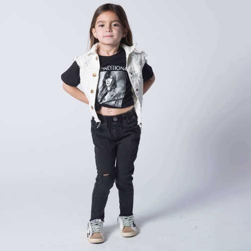 Oro ג'ינס סקיני פרנזים (8-2 שנים) - שחור אפור