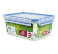 קופסת פלסטיק מלבנית אטומה 2.3 ליטר