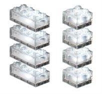 24 קוביות שקופות למשחק LIGHT STAX, תואם גודל קוביות LEGO - משלוח חינם!