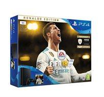 קונסולה Playstation 4 דגם SLIM בנפח 1T+משחק FIFA 18 דלוקס +סטנד מתנה