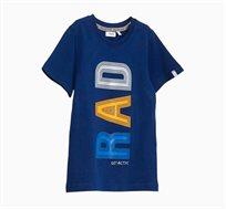 חולצת טי OVS קצרה לתינוקות וילדים - כחול עם הדפס