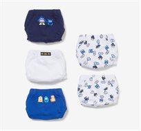 מארז 5 תחתוניי OVS לילדים - לבן כחול