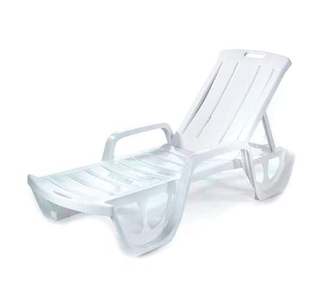 מיטה לשיזוף  דגם פלורידה בצבע לבן