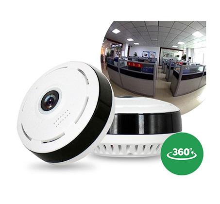 מצלמת IP אלחוטית נסתרת פנורמית 360 מעלות HD 720P התקנה  ללא חיבור לכבלים