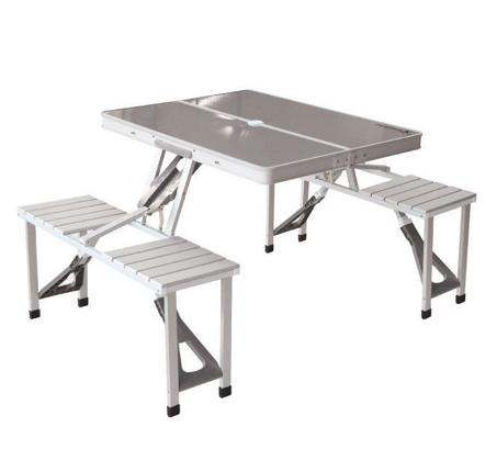 מזוודת אלומיניום הנפתחת לסט שולחן פיקניק