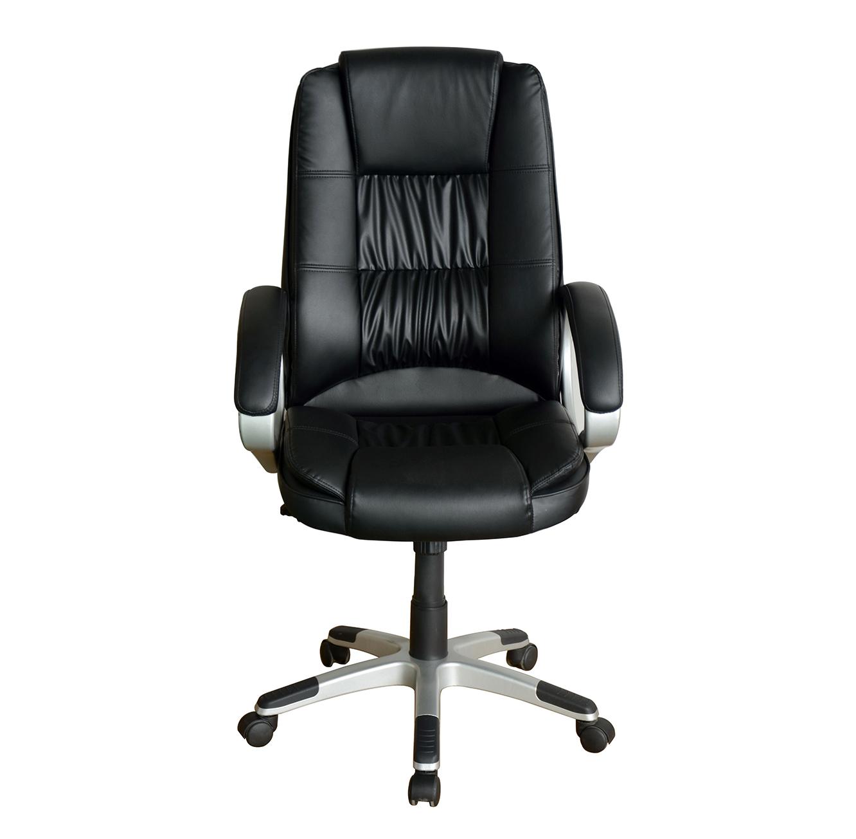 כיסא מחשב לבית ולמשרד בריפוד בד עם רגלי נירוסטה דגם דנוור - תמונה 2