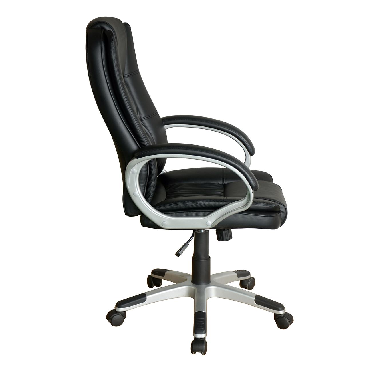 כיסא מחשב לבית ולמשרד בריפוד בד עם רגלי נירוסטה דגם דנוור - תמונה 3