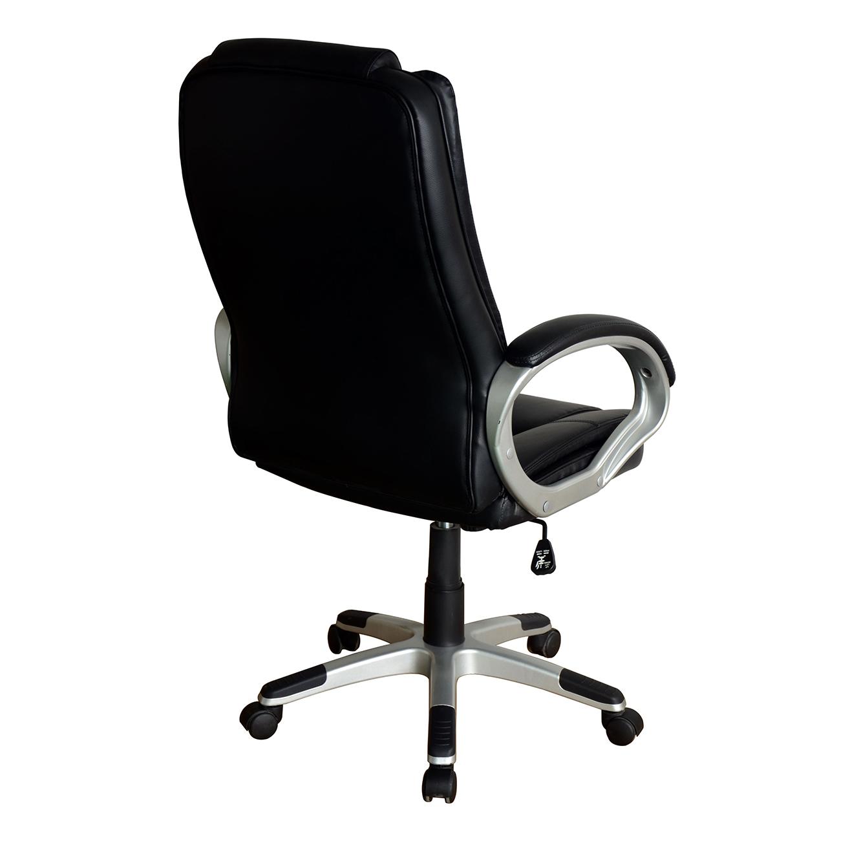 כיסא מחשב לבית ולמשרד בריפוד בד עם רגלי נירוסטה דגם דנוור - תמונה 4