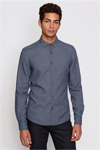 חולצה מכופתרת EXTRA SLIM לגבר DEVRED - כחול נייבי