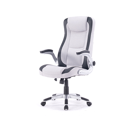 כסא מנהל מרופד דמוי עור עם מושב גבוה