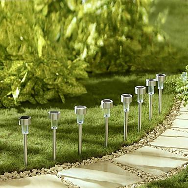 מושלם לגינה! סט 10 פנסי לד סולארים מרשימים מנירוסטה ללא צורך בחשמל נדלקים אוטומטית בלילה - תמונה 2