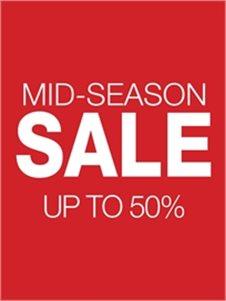 MID-SEASON SALE עד 50% הנחה על הפריטים שבמבצע!