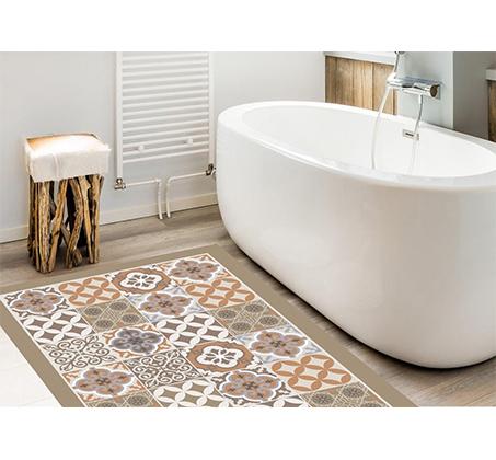 שטיחי אמבטיה מעוצבים ומודרניים עם גומי למניעת החלקה - תמונה 2