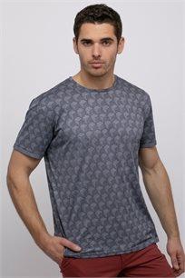 חולצת טי מלאנג' הדפס אול אובר