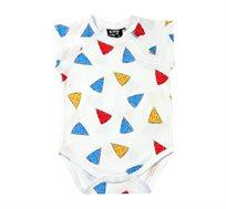 בגד גוף קצר Minene לתינוקות - לבן מודפס