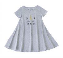שמלה מסתובבת חתול חד קרן בצבע  מלאנז'