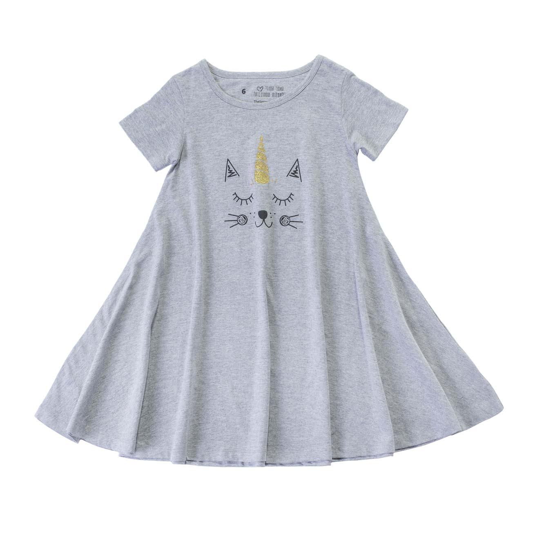 שמלה מסתובבת חתול חד קרן -  מלאנז'