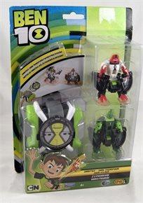 בן 10 שעון מקפיץ + 2 דמויות אדום ירוק