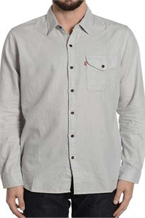 מכופתרת LEVIS לגברים LEVIS MENS SKATEBORDING REFORM SHIRT 19451-0009 בצבע אפור בהיר