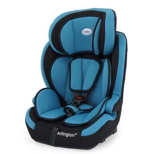 כסא בטיחות משולב בוסטר ארלינגטון עם חיבור איזופיקס - שחור/כחול