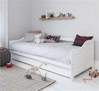 מיטת ילדים TUTTI הכוללת מיטה עליונה, מיטת חבר נשלפת ו-2 מזרנים אורתופדיים
