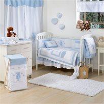 סט מצעים 3 חלקים למיטת תינוק 100% כותנה - דובי כוכבים