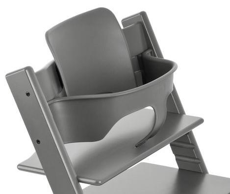 בייבי סט לכיסא אוכל טריפ טראפ - אפור בהיר