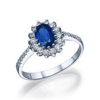 """טבעת יהלומים """"דיאנה"""" בשיבוץ יהלומי צד"""