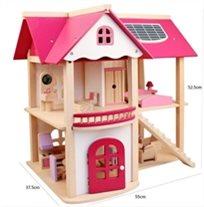 בית בובות עץ צבעוני