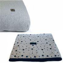 Baby Mitmit סט קייצי למיטת תינוק - שמיכה וסדין אפור - Galaxy