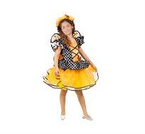 תחפושת לילדות פרפרית מתוקה כתומה