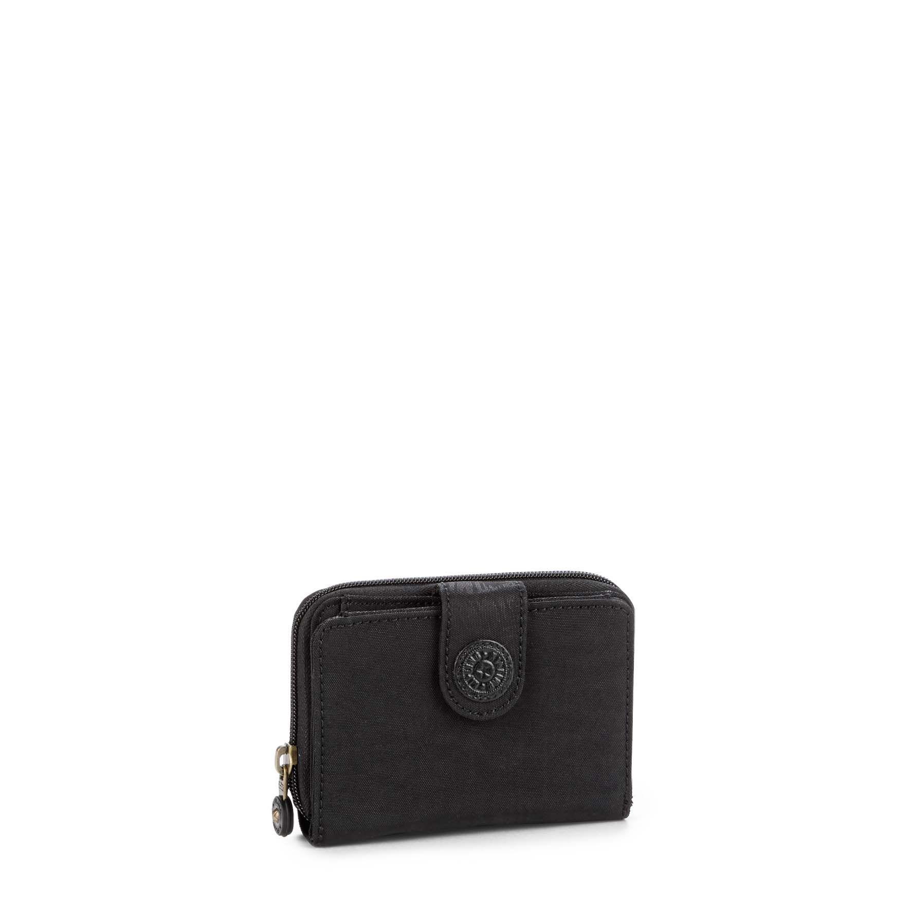 ארנק בינוני New Money - Black Leafהדפס עלים שחור