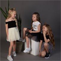 חצאית Oro לילדות (מידות 2-7 שנים) בז' טוטו