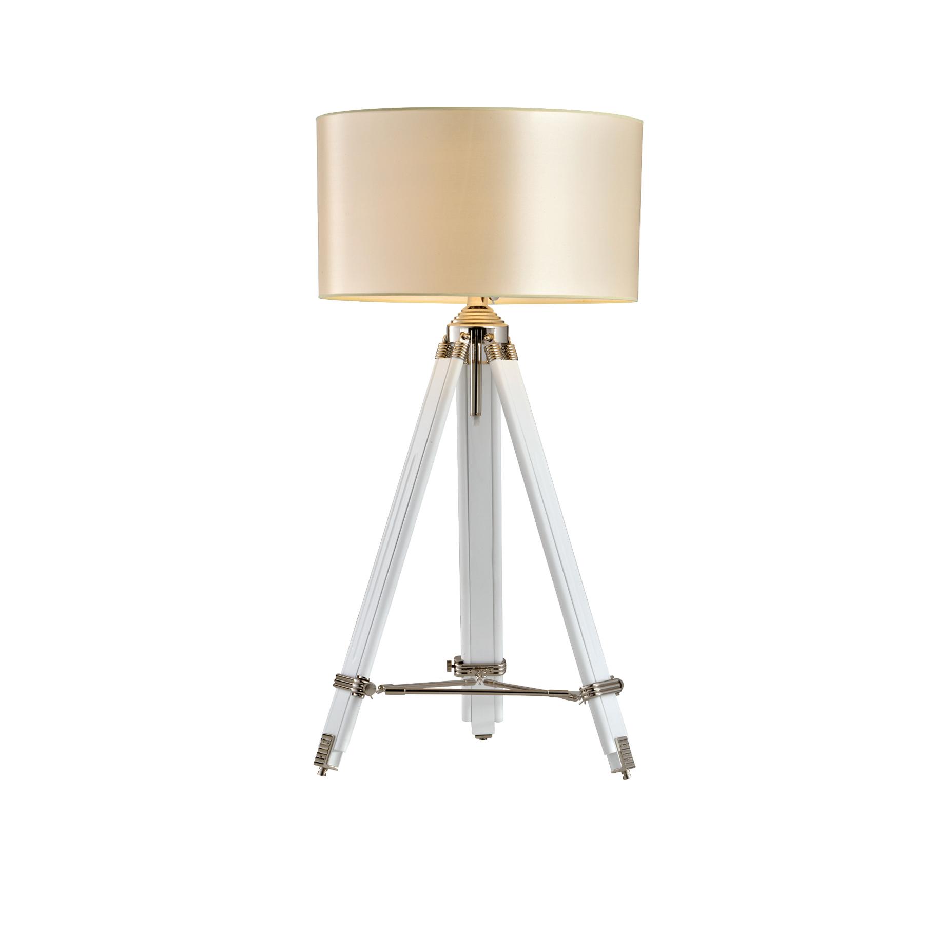מנורת חצובה אהיל X-light בעלת חצובה מעץ מלא המתכווננת לכל גודל בעלת אהיל ענק מבית HomeTown - תמונה 2