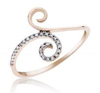טבעת יהלומים 14 קרט זהב צהוב