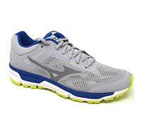 נעלי ריצה לגברים MIZUNO MAN'S RUNNING SHOES SYNCHRO MX 2 J1GE171919 בצבע אפור בהיר כחול וירוק