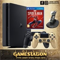 Playstation 4 Slim 1T PAL סוני פלייסטיישן 4 סלים חבילת ספיידרמן מורחבת!