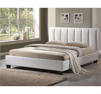 מיטה זוגית Merlin בריפוד עור בעיצוב איטלקי GAROX