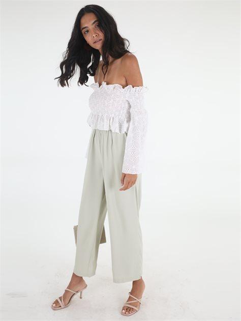 מכנסיים ירוקות ג'יה טורקיז סטייל ריבר