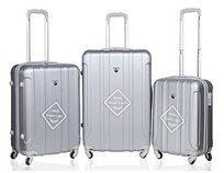 swiss סט 3 מזוודות superlight grey
