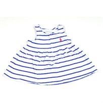 Ralph Lauren / ראלף לורן (18 חודשים) שמלת פסים  - כחול לבן