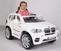 מכונית ממונעת 12V לילדים Bmw X5 דגם 2015 עם שלט - לבן