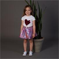 חצאית Oro לילדות (מידות 2-8 שנים) חלל ורוד מבריק