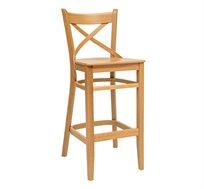 כסא בר מעץ לשימוש בכל חדרי הבית דגם קרן