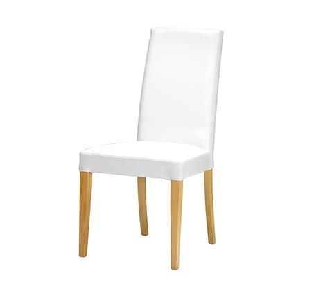 כיסא לפינת אוכל דגם טוני ביתילי מרופד בבד דמוי עור ורגלי בוק בצבע אלון טבעי תוצרת איטליה - משלוח חינם - תמונה 2