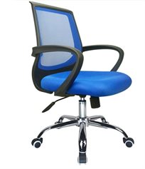 כסא משרדי דגם בר בעל גובה מתכוונן עם 5 גלגלים ותמיכת גב משופרת