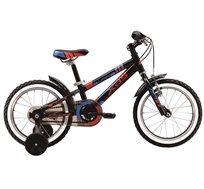 """אופניים לילדים מידה 16"""" עם גלגלי עזר דגם XDS NEW DINO 16 - משלוח חינם"""