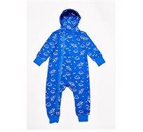 אוברול לתינוקות על חלל בצבע כחול רויאל