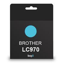 על איכות לא מתפשרים! ראש דיו תואם BROTHER LC970 צבע כחול, דיו איכותי למדפסת